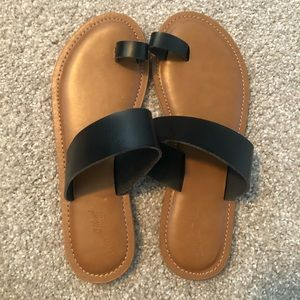 NEW black sandals - universal thread